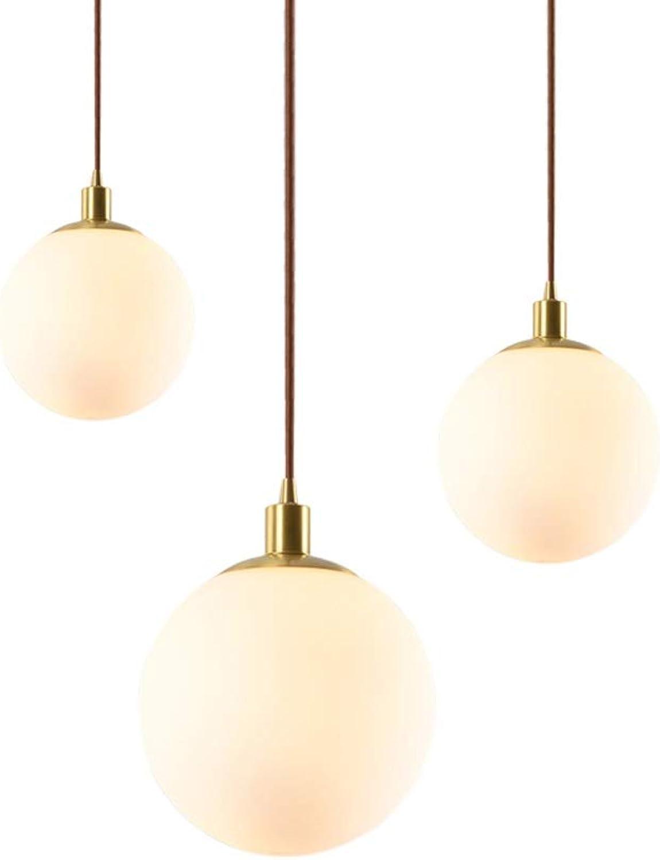 DKren Lustre Nordique de Design Lustre Simple en Verre Rond Lustre étude Salon Chambre éclairage -619 (Taille   15cm)