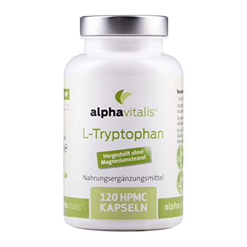 L-Tryptophan Kapseln - 120 Kapseln je 500mg - vegan - fermentiert - hergestellt ohne Trennmittel oder Magnesiumstearat