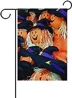 フラッグ ハロウィーンの魔法の帽子カボチャかかしガーデンフラグバナー屋外ホームガーデンフラワーポットの装飾のための 30 x 45cm