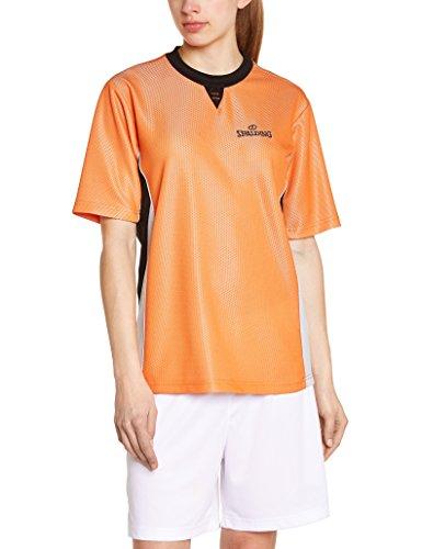 Spalding Mens Schiedsrichtershirt Pro Shirt, orange,Black, M
