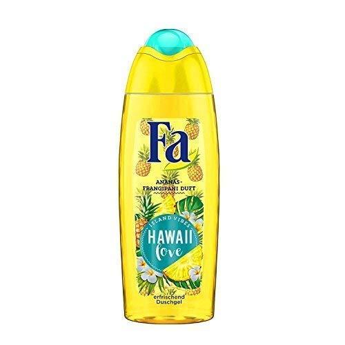 Fa Hawaii Love Duschgel, Ananas - Fragipani Duft, Island Vibes, 4er Pack (4 x 250 ml)