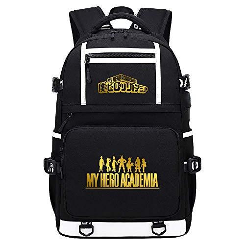 My Hero Academia Deku/Todoroki Shoto/bakugou Katsuki USB Daypack Backpack School Travel Bag-F,Colour Name:E qingqiao (Color : F)