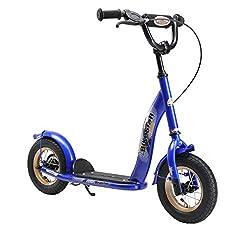 BIKESTAR-skootteri Lasten skootteri Kick-skootteri ilmarenkailla 4–5-vuotiaille pojille ja tytöille | 10 tuuman klassinen lasten skootteri | Musta (matta) | Testaus ilman riskiä