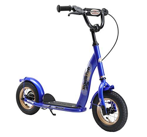 BIKESTAR Roller Kinderroller Tretroller Kickscooter mit Luftreifen für Jungen und Mädchen ab 4 - 5 Jahre | 10 Zoll Classic Kinder Scooter | Blau | Risikofrei Testen