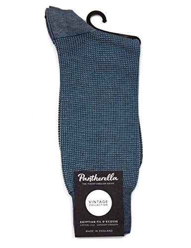 Pantherella Tewkesbury 3 Colour Birdseye Socks - Light Denim Mix Light Denim Mix Medium
