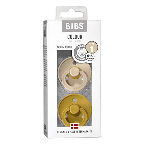 BIBS Ciuccio Colour in gomma naturale danese a forma di ciliegia, confezione da 2 pezzi, misura 1 (0-6 mesi)
