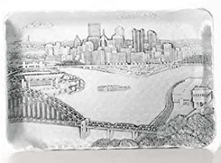 Wendell August Forge 13440230 Pittsburgh Cityscape Sandwich Serving Tray, Silver