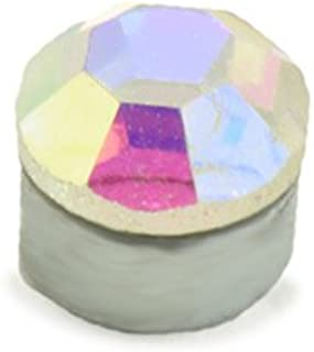 Magnetic Monroe Labret Nose Ear Stud Ring 3mm Aurora Stone