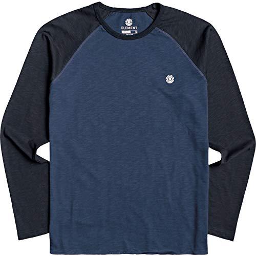 Element Herren Blunt - Longsleeve für Männer T-Shirt, Eclipse Navy, S