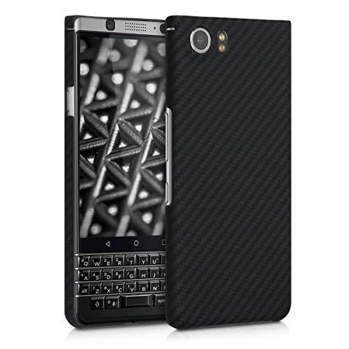 kalibri Hülle kompatibel mit BlackBerry KEYone (Key1) - Aramid Handy Schutzhülle - Cover Case Handyhülle Schwarz matt