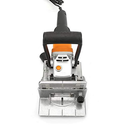 Máquina Espigadora Multifuncional, Carpintería Eléctrica de Galletas de Madera de 220V Máquina Espigadora de Carpintería Groover 760w Máquina de Ranurado Para Carpintería de Enchufe de La UE