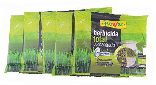 Todo Cultivo herbicida Total Concentrado glifosato 68%. Pack 5 Sobres 1000 Metros Cuadrados (50 liltros de Agua). Utilizado para la eliminación Total de Malas Hierbas