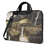 Laptop Umhängetasche 14 Zoll, Fantasy Wasserfall...