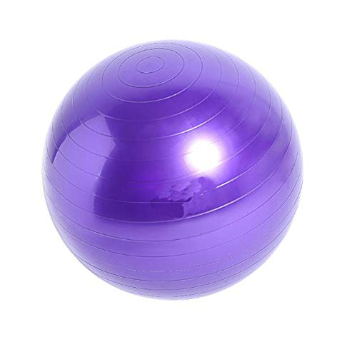 FLYM Massaggio Yoga Sfera di Esercitazione, Sfera di Yoga, Addensare Antiscivolo Anti-Burst, Extra Thick Swiss Ball con la Pompa, per la Gravidanza e Parto Perdere Peso,Viola