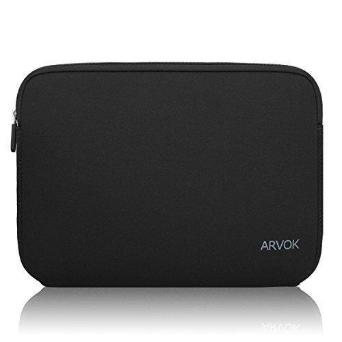 Arvok 17 17.3 Pouces Housse pour Ordinateur Portable en Néoprène Pochette Sacoche pour Chromebook Ultrabook Netbook Tablette (Noir)