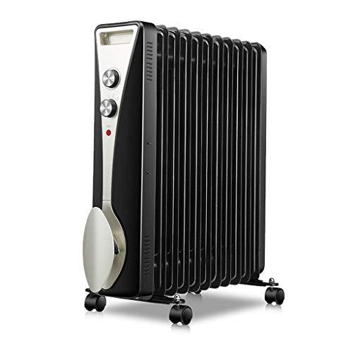 alvyu Ölradiator, energieeffiziente Heizkörper 2100W / 11Heat ableitenden Elemente und intelligente Thermostat, Überhitzungsschutz und 3 Leistungseinstellung, Schwarz