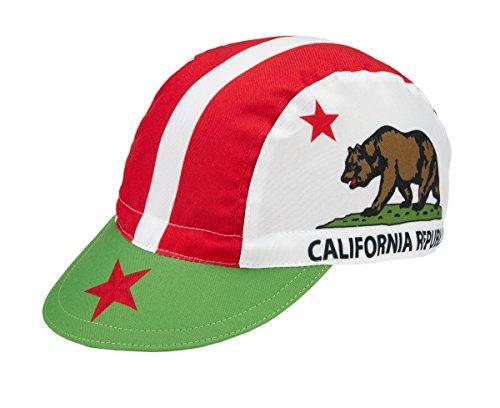 California Radmütze Cap Rennmütze Retro Mütze