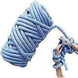 MNNE Fieltro Tejido a Mano, Ovillo Grueso de Hilo de Lana con Hilo Central Tejido a Mano, Utilizado para Tejer los Brazos DIY Blue