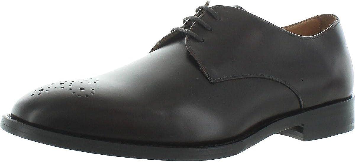 Vince Camuto Mens Haltter Leather Dressy Oxfords Brown 9.5 Medium (D)