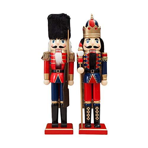 Casse-Noisette Soldats Ensemble De Cadeaux De Noël Décoration Soldat En Bois Casse-Noisette Sur Pied, Multi-Couleur Marionnettes Chiffres Poupées Jouet
