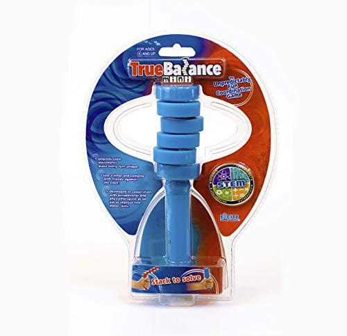 TrueBalance Coordination Game Balance Toy for Adults and Kids | Improves Fine Motor Skills (Mini Blue)