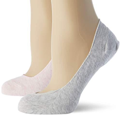 Calvin Klein Socks Womens Liner 2p Logo Hailey Socks, pink combo, 35/38