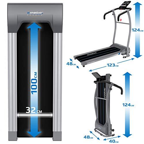 Kinetic Sports KST1650FX Laufband 500 Watt leiser Elektromotor 6 Pogramme, GEH- und Lauftraining, Tablethalterung, stufenlos einstellbar bis 10 km/h, klappbar - 6