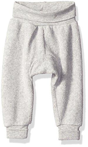 Zutano baby boys Unisex Solid Fleece Cuff Pants, Heather Gray, 6-12 Months US