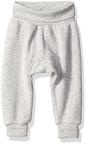 Zutano baby boys Unisex Solid Fleece Cuff Pants, Heather Gray, 18-24 Months US