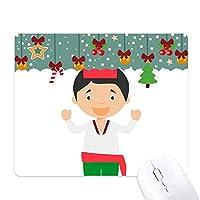 赤・緑・トルコの漫画 ゲーム用スライドゴムのマウスパッドクリスマス