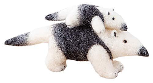 ハマナカ 羊毛フェルトキット ニードルフェルトでつくるどうぶつたち ミナミコアリクイ H441-562