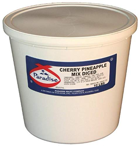 Paradise Cherry and Diced Pineapple Mix, 10 Pound Tub