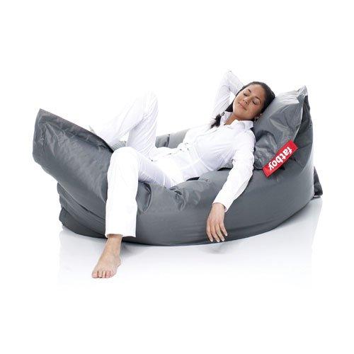 Fatboy® Original anthrazit Nylon-Sitzsack  Klassischer Indoor Beanbag, Sitzkissen   180 x 140 cm