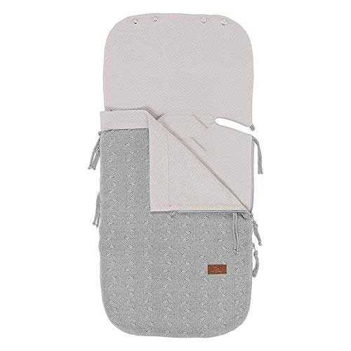 Baby's Only - Sommer Fußsack Autositz 0+ Cable grau