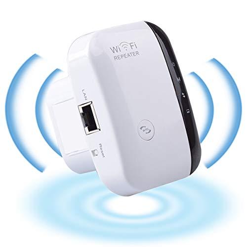 YiYunTE Repetidor WiFi 300Mbps Amplificador Señal WiFi 2.4GHz Extensor de Red Extender WiFi Amplificador Modo Ap Función WPS WiFi Repeater Inalámbrico con Botón WPS 1 Puerto Fast Ethernet