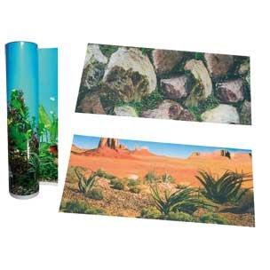 Karlie Décor de Fond en Rouleau pour Aquarium Motif Terre/Rocher 61 cm