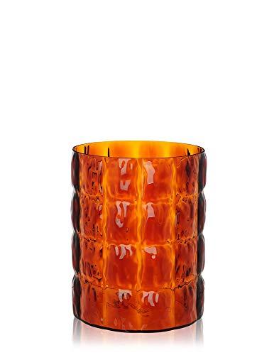 Kartell 01225MM Matelasse' Vase, Plastik, Amber, 23 x 30 cm