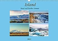 Island - Insel voll herber Anmut (Wandkalender 2022 DIN A3 quer): Die Fotos zeigen interessante raue Landschaften, gepraegt von den Vulkanen, aber auch eine spannende Hautpstadt. (Monatskalender, 14 Seiten )