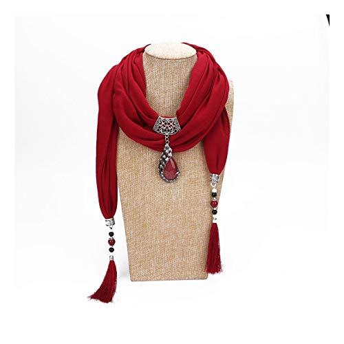 XinXinFeiEr De Las Mujeres Liviana Cuentas De Cerámica con Flecos Chal Collar De La Joyería Pendiente del Pavo Real De La Bufanda Suave Flor (Color : 8, Size : One Size)