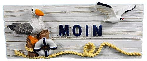 N / A Imán Moin gaviota Poller salvavidas 8 x 3 cm Souvenir playa concha imán nevera imán marítimo lago animal figura decoración E11