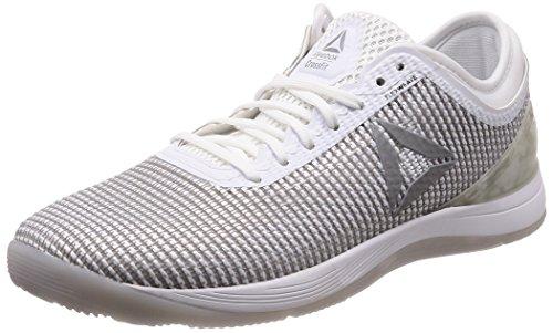 Reebok R Crossfit Nano 8.0, Zapatillas de Entrenamiento para Hombre, Blanco (White/Skull Grey/Silver 0), 43 EU
