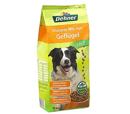 Dehner Hundefutter Adult, Knusper Mix mit Geflügel, 12 kg