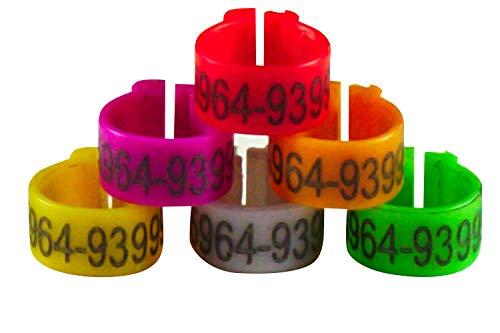 Eurital Telefon-Clipringe/Clipringe/Ringe für Tauben (50 bis 500 Stück frei wählbar) (50, Orange)