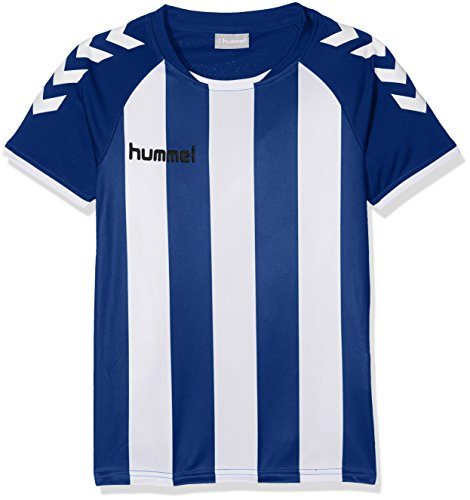 Hummel Jungen CORE Striped SS Jersey Trikot, True Blue/White, 116-128