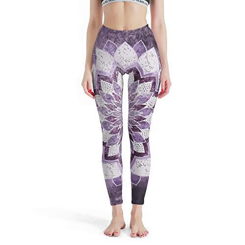 XHJQ88 -Dromerige Soepele Broek Vrouwen, Gedrukte Leggings MANDALA IN PURPLE Thema Zomer Capri Panty Leggings voor Vrouwen Sport Gym Sexy