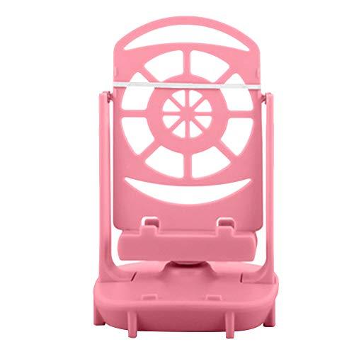 Teléfono Swing Shake Motion Soporte Decorativo Duradero Hogar automático Universal con Cable B Pasómetro bajo Ruido Dispositivo Wiggler Cepillo Paso Escritorio(Rosa)