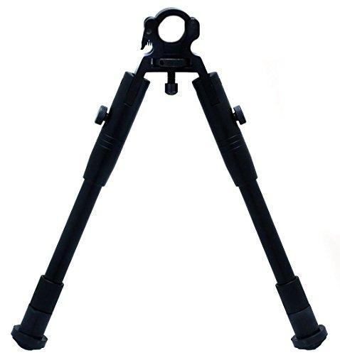 Oramics Hochwertige Vorderschaftauflage Zweibein Bipod - Zielstock Höhenverstellbar klappbar - Stativ faltbar taktisch für Profilschiene 11mm bis 19mm RedDot Zielfernrohr Zielvisier