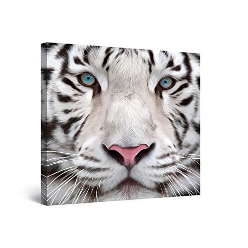 Startonight Cuadro Moderno en Lienzo - El Tigre Siberiano de Ojos Azules...