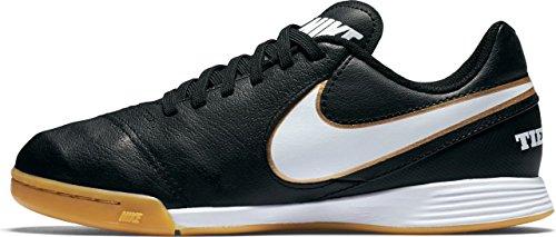 Nike Tiempo Legend VI IC Jr Unisex-Kinder Fußballschuhe, Schwarz (Schwarz/Weiß/Gold), 34 EU