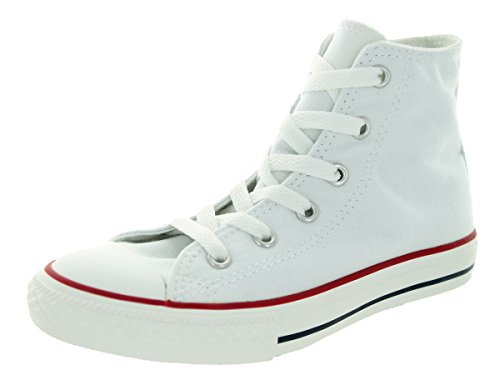 Converse Youth CT AS - Zapatillas deportivas clásicas, caña alta, tela de color blanco, talla 49 EU